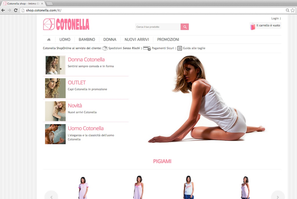 Cotonella Redomino Ecommerce