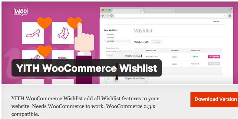 come aggiungere la wishlist su woocommerce plugin