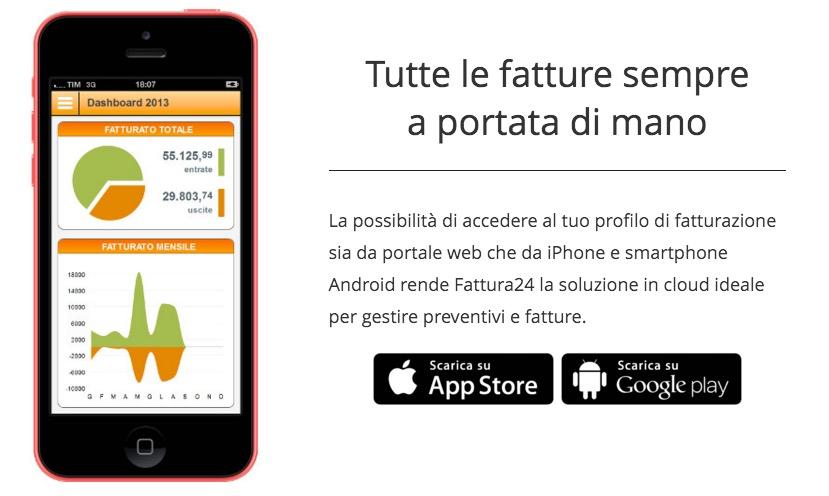 fattura24 - iPhone e Android