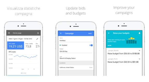 app adwords per ios nell'app store