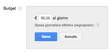 budget campagne adwords