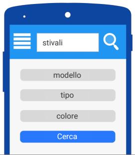 funzione cerca su sito mobile