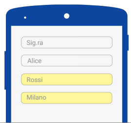 registrazione su sito mobile